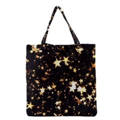 Golden stars in the sky Grocery Tote Bag