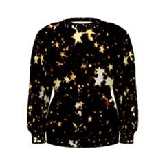 Golden stars in the sky Women s Sweatshirt