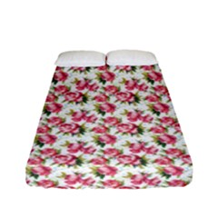 Gorgeous Pink Flower Pattern Fitted Sheet (full/ Double Size)