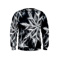 Snowflake in feather look, black and white Kids  Sweatshirt