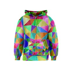 Triangles, colorful watercolor art  painting Kids  Zipper Hoodie