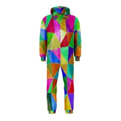 Triangles, Colorful Watercolor Art  Painting Hooded Jumpsuit (kids)