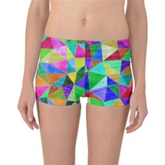 Triangles, colorful watercolor art  painting Reversible Bikini Bottoms