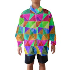 Triangles, colorful watercolor art  painting Wind Breaker (Kids)