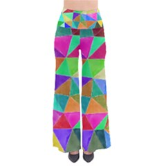 Triangles, colorful watercolor art  painting Pants