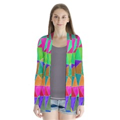 Triangles, colorful watercolor art  painting Cardigans