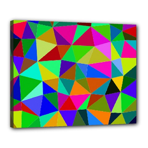 Colorful Triangles, oil painting art Canvas 20  x 16