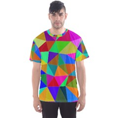 Colorful Triangles, oil painting art Men s Sport Mesh Tee