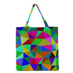 Colorful Triangles, oil painting art Grocery Tote Bag