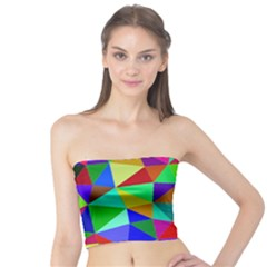 Colorful Triangles, oil painting art Tube Top