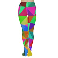 Colorful Triangles, oil painting art Women s Tights
