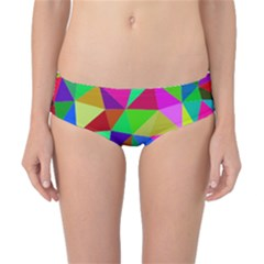 Colorful Triangles, oil painting art Classic Bikini Bottoms