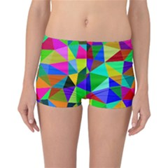 Colorful Triangles, oil painting art Reversible Bikini Bottoms