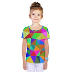 Colorful Triangles, Oil Painting Art Kids  One Piece Tee