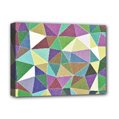 Colorful Triangles, Pencil Drawing Art Deluxe Canvas 16  X 12