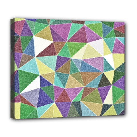Colorful Triangles, pencil drawing art Deluxe Canvas 24  x 20