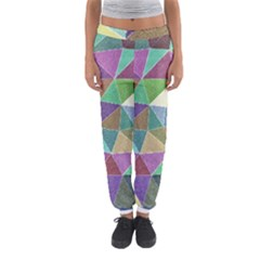 Colorful Triangles, pencil drawing art Women s Jogger Sweatpants