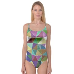 Colorful Triangles, pencil drawing art Camisole Leotard