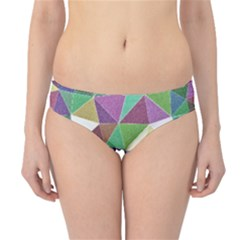 Colorful Triangles, pencil drawing art Hipster Bikini Bottoms