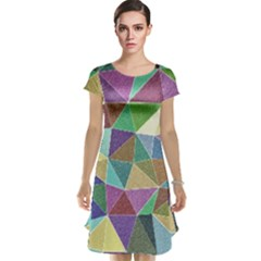 Colorful Triangles, pencil drawing art Cap Sleeve Nightdress