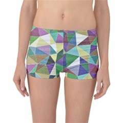 Colorful Triangles, pencil drawing art Reversible Bikini Bottoms