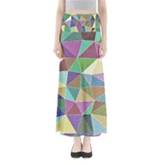 Colorful Triangles, pencil drawing art Maxi Skirts