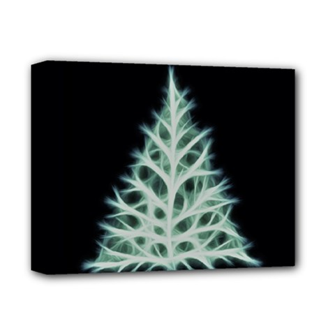 Christmas fir, green and black color Deluxe Canvas 14  x 11