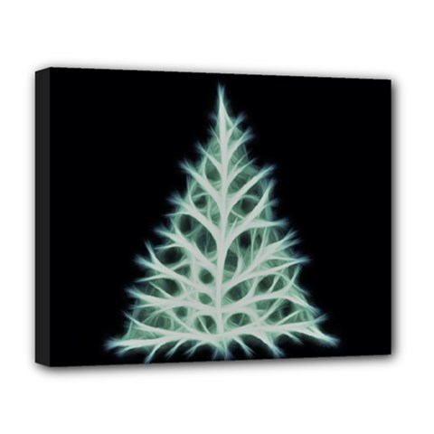 Christmas fir, green and black color Deluxe Canvas 20  x 16