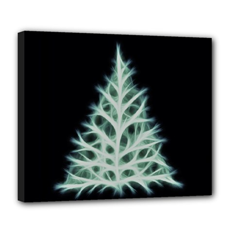 Christmas fir, green and black color Deluxe Canvas 24  x 20