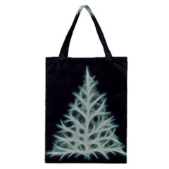 Christmas fir, green and black color Classic Tote Bag