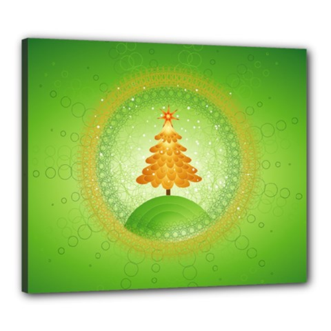 Beautiful Christmas Tree Design Canvas 24  x 20