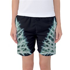 Christmas fir, green and black color Women s Basketball Shorts