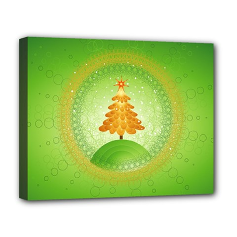 Beautiful Christmas Tree Design Deluxe Canvas 20  x 16