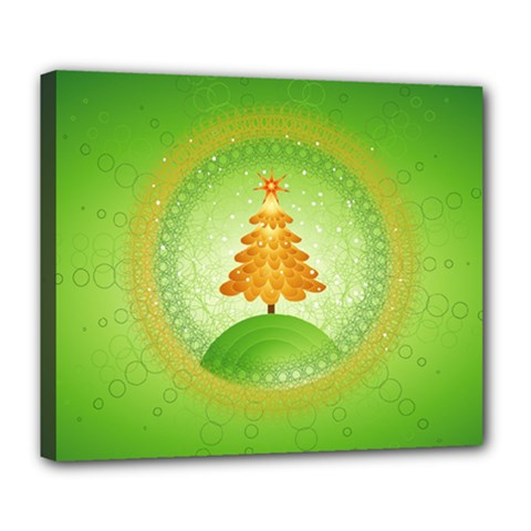 Beautiful Christmas Tree Design Deluxe Canvas 24  x 20