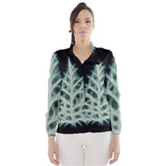 Christmas fir, green and black color Wind Breaker (Women)