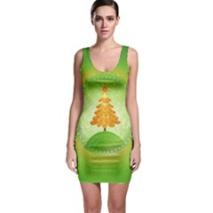 Beautiful Christmas Tree Design Sleeveless Bodycon Dress
