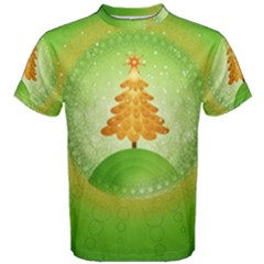 Beautiful Christmas Tree Design Men s Cotton Tee