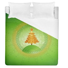 Beautiful Christmas Tree Design Duvet Cover (Queen Size)