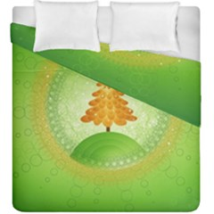 Beautiful Christmas Tree Design Duvet Cover Double Side (King Size)