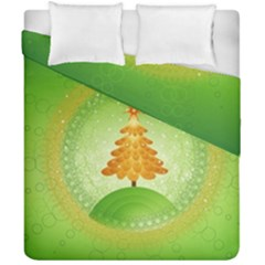 Beautiful Christmas Tree Design Duvet Cover Double Side (California King Size)
