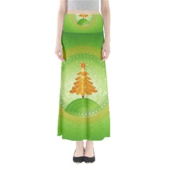 Beautiful Christmas Tree Design Maxi Skirts