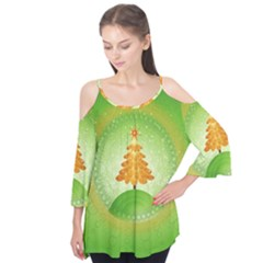 Beautiful Christmas Tree Design Flutter Tees
