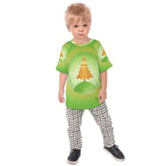 Beautiful Christmas Tree Design Kids  Raglan Tee