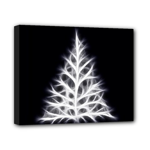 Christmas fir, black and white Canvas 10  x 8