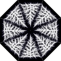 Christmas fir, black and white Folding Umbrellas