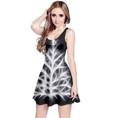 Christmas fir, black and white Reversible Sleeveless Dress