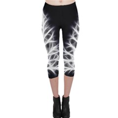 Christmas fir, black and white Capri Leggings