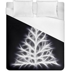 Christmas Fir, Black And White Duvet Cover (california King Size)
