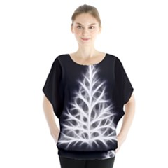 Christmas fir, black and white Blouse