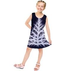 Christmas fir, black and white Kids  Tunic Dress
